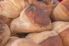 Pagnotta di recente al forno del pane casalingo Immagine Stock Libera da Diritti