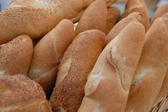 Pagnotte di pane fresche Fotografia Stock