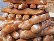 Pagnotte di pane fresche Immagine Stock