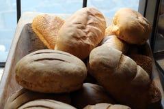 Pagnotte di pane fresco, vista del primo piano Immagine Stock