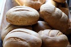 Pagnotte di pane fresco, vista del primo piano Immagini Stock Libere da Diritti
