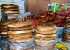 Pagnotte di pane rotonde Immagine Stock
