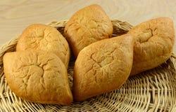 Pagnotte messicane del pane bianco di Bolillo Fotografia Stock Libera da Diritti