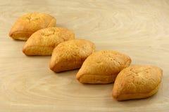 Pagnotte messicane del pane bianco di Bolillo Fotografie Stock