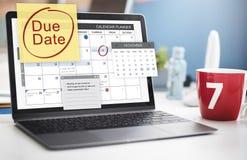 Pago Bill Important Notice Concept del plazo de la fecha debida Fotografía de archivo
