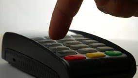 Pago con tarjeta de crédito, compra y productos y servicio de la venta almacen de metraje de vídeo