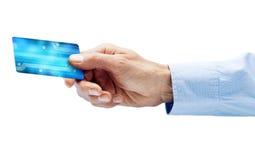 Pago de Digitaces de la tarjeta de crédito imagen de archivo libre de regalías