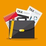 Pago de impuestos Foto de archivo libre de regalías