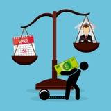 Pago de impuestos Imagen de archivo