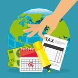Pago de impuestos Fotografía de archivo libre de regalías