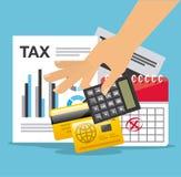Pago de impuestos Fotos de archivo libres de regalías
