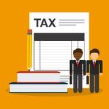 Pago de impuestos Imagen de archivo libre de regalías