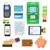 Pago de servicios vía los terminales y los servicios web Imágenes de archivo libres de regalías