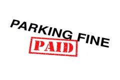 Pago fino de estacionamento fotos de stock royalty free
