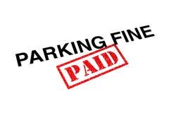 Pago fino de estacionamento foto de stock royalty free
