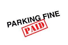 Pago fino de estacionamento fotografia de stock royalty free