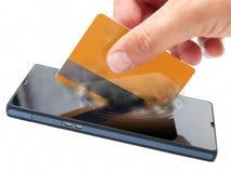 Pago móvil Imagen de archivo libre de regalías