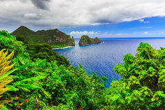 Pago Pago, American Samoa. Camel Rock near the village of Lauli'i Royalty Free Stock Image