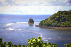 Pago Pago American Samoa photos. This is a shot of the very tropical Pacific Island of American Samoa Stock Images