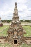 Pagod av den Chaiwatthan templet Royaltyfria Bilder