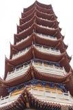 Pagod av den mång--eaveed typ-pagoden Royaltyfria Bilder