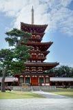 Pagod av den Yakushi-ji templet Arkivfoton