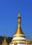 Pagod av det Meahongson landskapet i Thailand Fotografering för Bildbyråer