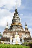 Pagod ayutthaya Thailand Arkivfoto