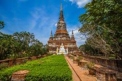 Pagod för buddistisk tempel - bhudabild Thailand Fotografering för Bildbyråer