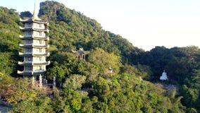 Pagod för flyg- sikt bland lös tropisk djungel på berget arkivfilmer
