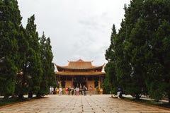 Pagod i kloster Dalat Vietnam Arkivbilder