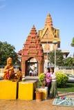 Pagod i pagod för Cambodja självständighetsdagenRoyal Palace silver Fotografering för Bildbyråer