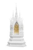 Pagod i thailändsk tempel på vit bakgrund Arkivfoto