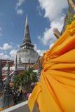 Pagod i Wat Mahathat, Nakhon Si Thammarat, Thailand Fotografering för Bildbyråer