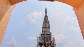 Pagod och tempel på Tra UthenNakorn Phanom; Thailand Arkivbilder