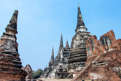 Pagod på Ayutthaya Arkivbilder