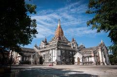 Pagod på Bagan i Myanmar Arkivfoto