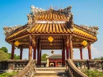 Pagod på den förbjudna purpurfärgade staden Hue Vietnam Royaltyfri Bild