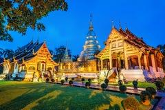 Pagod på den Phra Singh templet Arkivfoto