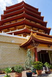 Pagod på en buddistisk tempel Arkivfoto