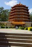 Pagod på en buddistisk tempel Arkivfoton
