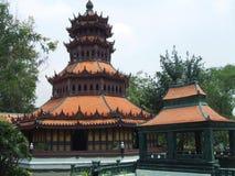 Pagod på forntida Siam, Bangkok, Thailand, Asien Royaltyfri Fotografi