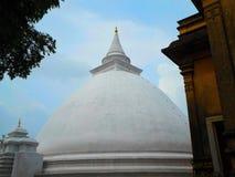 Pagod på Kelaniya den buddistiska templet Royaltyfria Foton