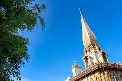 Pagod på Wat Chalong, Phuket landskap, Thailand arkivfoto