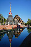 Pagod på Wat Pan Tao Chiang Mai Thailand Royaltyfri Fotografi