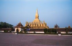 Pagod Pha den Luang Laos PDR Arkivbilder