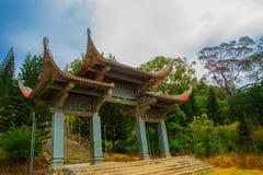 Pagod tempel askfat vietnam Phan Thiet Sommar arkivfoton