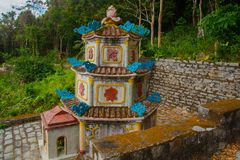 Pagod tempel askfat vietnam Phan Thiet Sommar Royaltyfri Fotografi