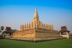 Pagod Wat Pha-That Luang Vientian royaltyfri foto