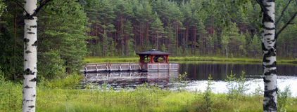 Pagoda на озере Стоковое фото RF